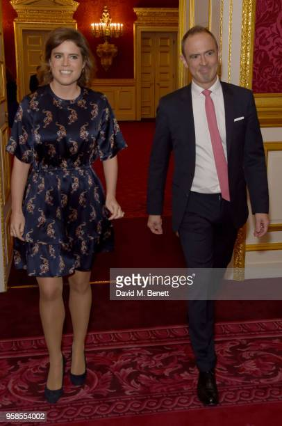 Princess Eugenie and James Ashton attend the Oscar's Book Prize 2018 in association with the Evening Standard at St James's Palace on May 14 2018 in...