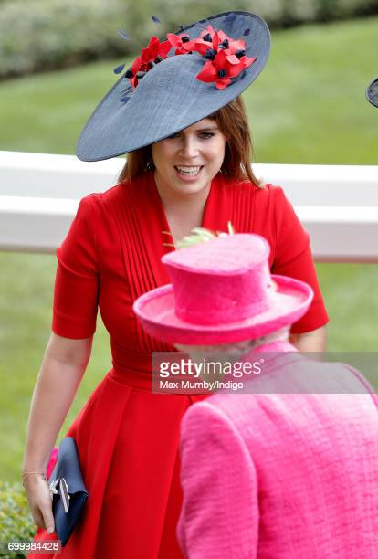 Princess Eugenie and Queen Elizabeth II attend day 3 Ladies Day of Royal Ascot at Ascot Racecourse on June 22 2017 in Ascot England