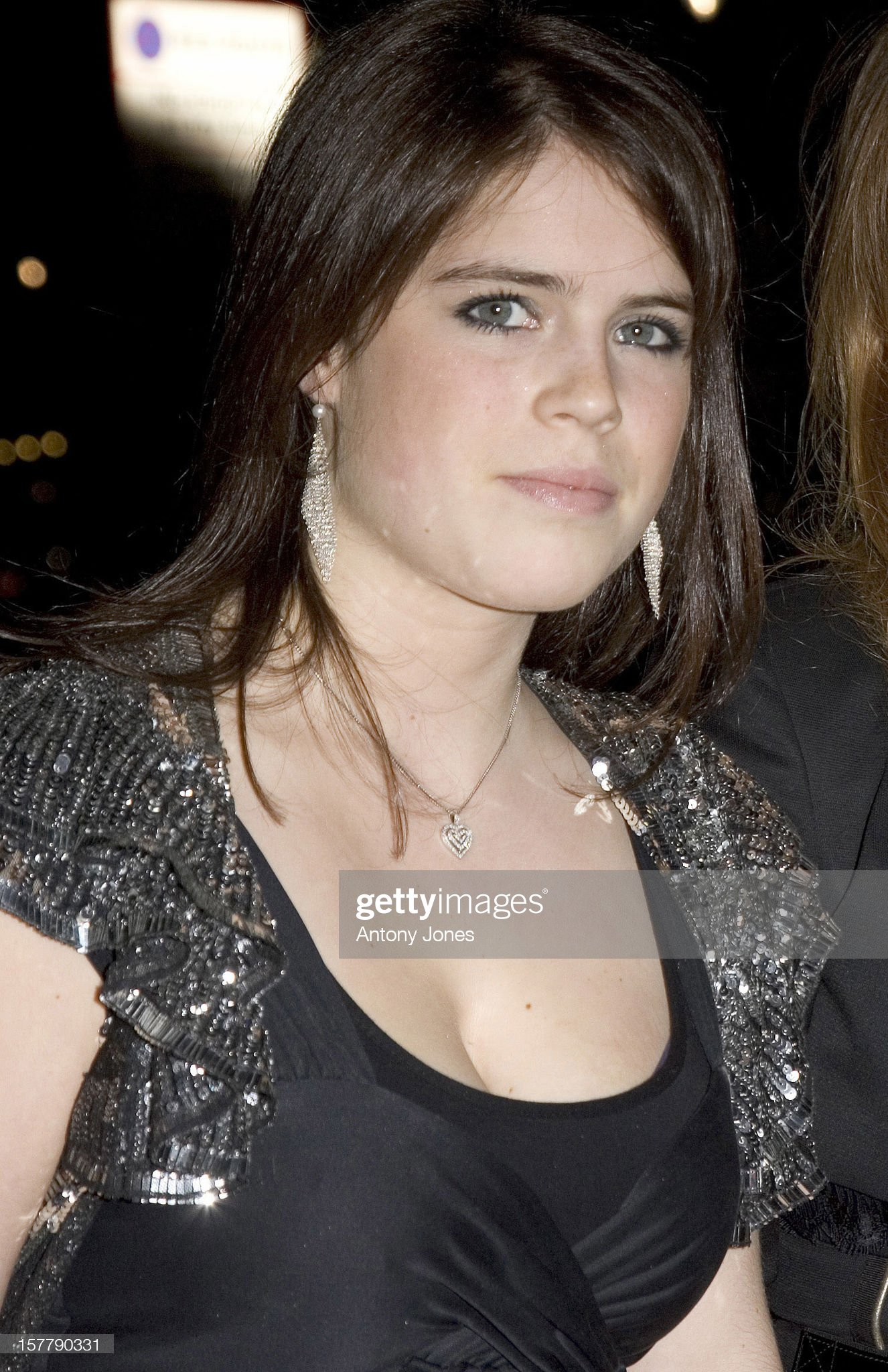 Princess Eugenie Arrives At The Firehouse Club In London To Celebrate Her 17Th : News Photo