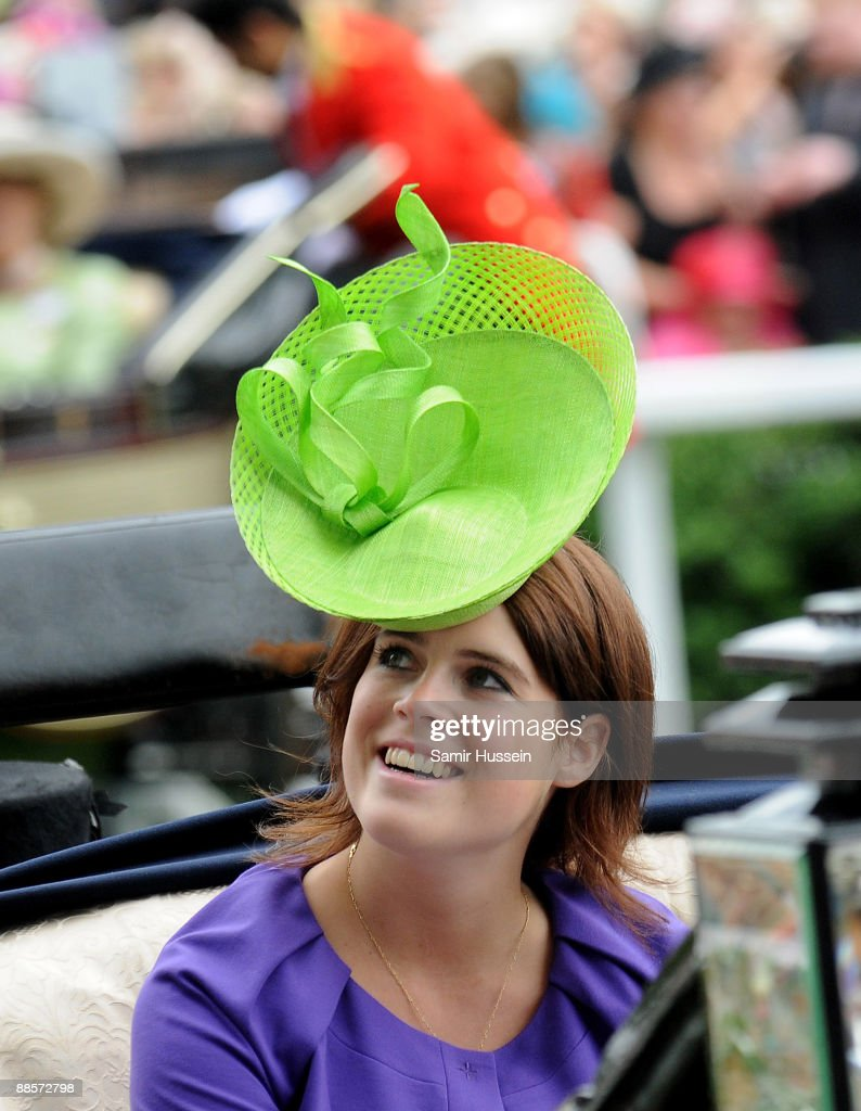 Princess Eugenie arrives by carriage on Ladies Day of Royal Ascot at Ascot Racecourse on June 18, 2009 in Ascot, England.