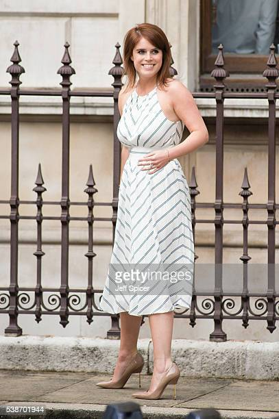 Princess Eugenie arrives for the VIP preview of the Royal Academy of Arts Summer Exhibition 2016 at Royal Academy of Arts on June 7 2016 in London...