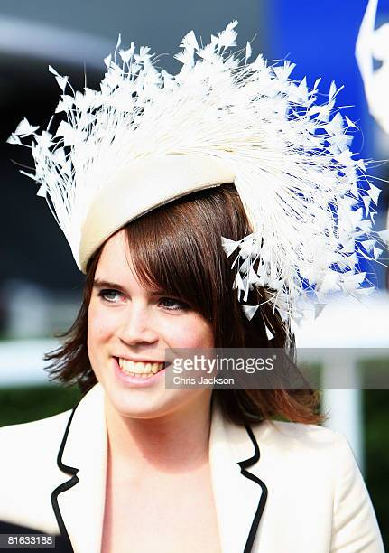 Princess Eugenie arrives in the parade ring in a horse drawn carriage during Ladies Day at Royal Ascot on June 19, 2008 in Ascot, England.