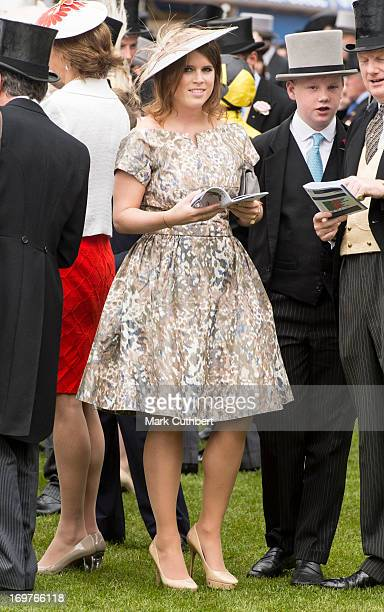 Princess Eugenie at The Investec Derby Festival at Epsom Racecourse on June 1 2013 in Epsom England