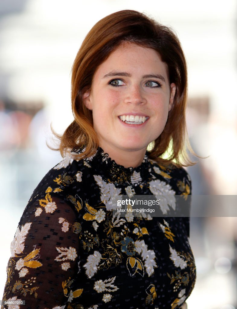 Princess Eugenie attends a reception with delegates from the Commonwealth Youth Forum during the Commonwealth Heads of Government Meeting (CHOGM) at the Queen Elizabeth II Conference Centre on April 18, 2018 in London, England.