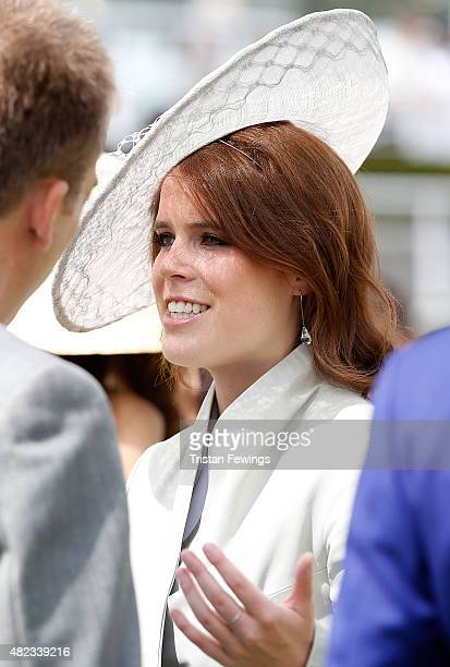 Princess Eugenie attends day three of the Qatar Goodwood Festival at Goodwood Racecourse on July 30 2015 in Chichester England