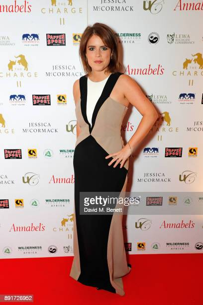 Princess Eugenie attends The Charge II boxing fundraiser at The Lindley Hall on December 13 2017 in London England