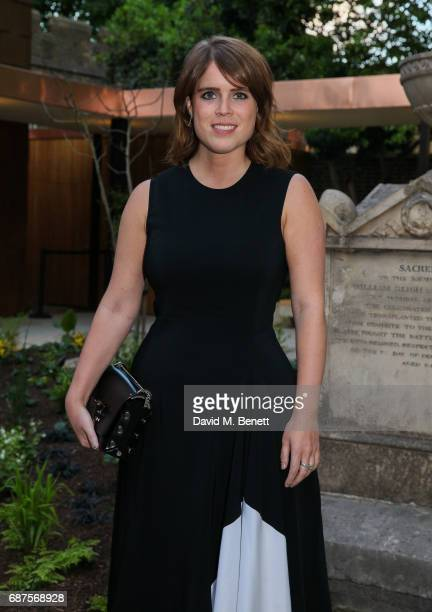 Princess Eugenie attends the Jimmy Choo Mytheresacom dinner at The Garden Museum on May 23 2017 in London England