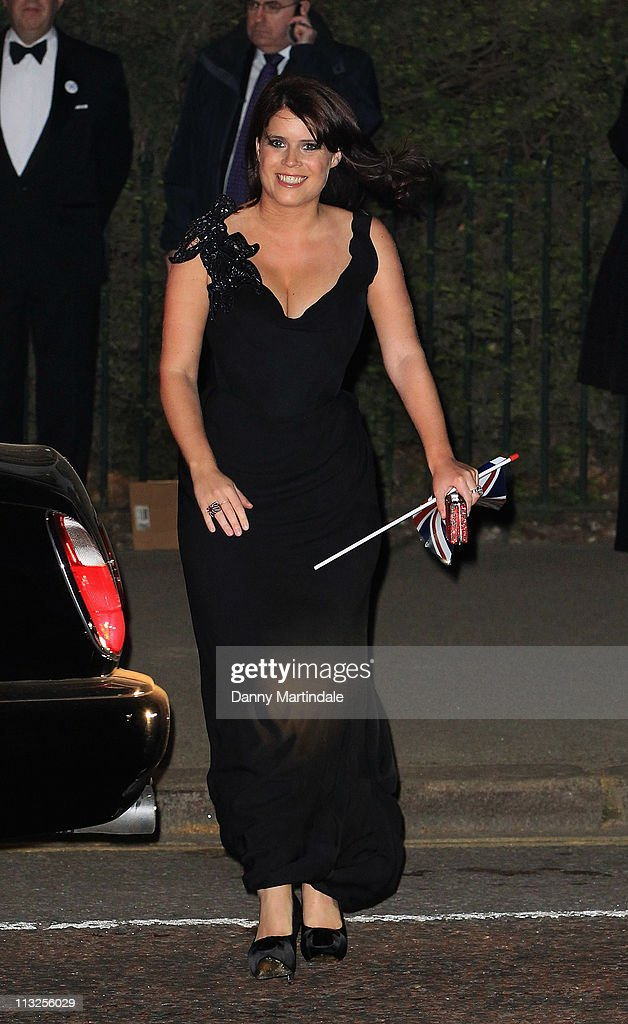 Princess Eugenie attends the pre-wedding dinner at Mandarin Oriental Hyde Park on April 28, 2011 in London, England.