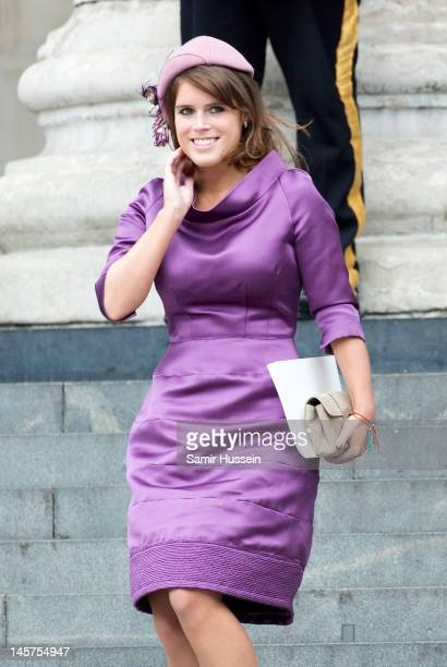 Princess Eugenie attends the Service of Thanksgiving at St Paul's Cathedral, as part of the Diamond Jubilee, marking the 60th anniversary of the...
