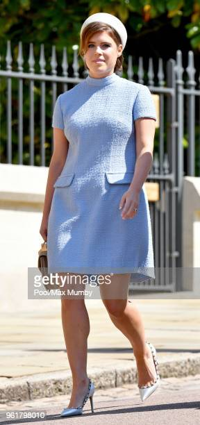 Princess Eugenie attends the wedding of Prince Harry to Ms Meghan Markle at St George's Chapel, Windsor Castle on May 19, 2018 in Windsor, England....
