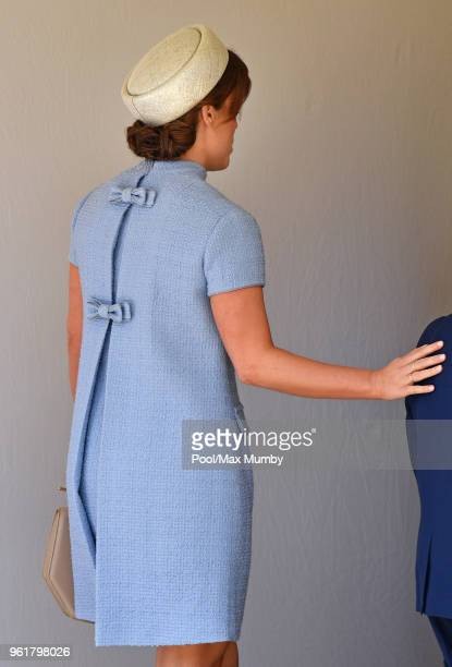 Princess Eugenie attends the wedding of Prince Harry to Ms Meghan Markle at St George's Chapel Windsor Castle on May 19 2018 in Windsor England...