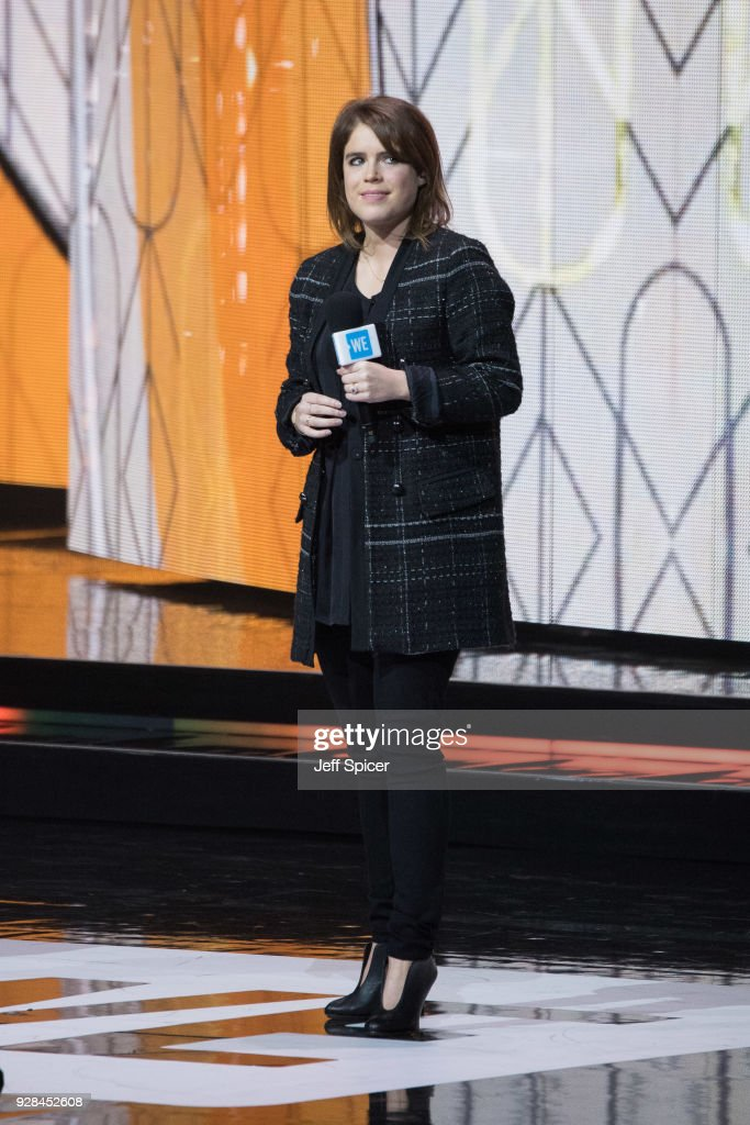 Princess Eugenie attends 'We Day UK' at Wembley Arena on March 7, 2018 in London, England.