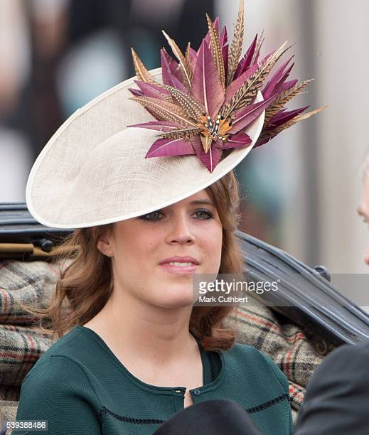 Princess Eugenie during the Trooping the Colour, this year marking the Queen's 90th birthday at The Mall on June 11, 2016 in London, England. The...