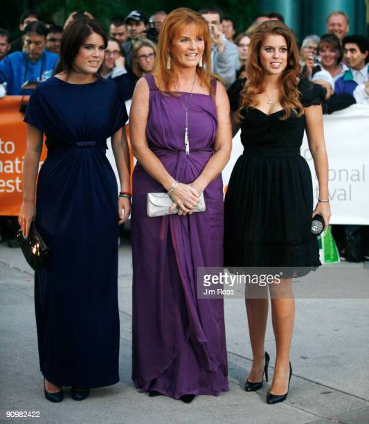 """Princess Eugenie Ferguson, Sarah Ferguson,the Duchess of York, and Princess Beatrice Ferguson attend the premiere of """"Young Victoria"""" at the Roy..."""