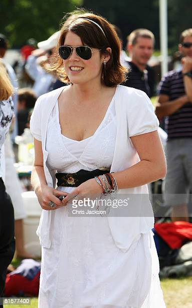 Princess Eugenie is seen at the Vivari Queens Cup Final at Guards Polo Club on June 15 2008 in Windsor England