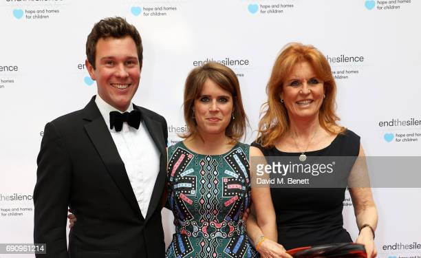 Princess Eugenie Jack Brooksbank and Sarah Ferguson Duchess of York attend the 50th anniversary of The Beatles SGT Pepper Album at Abbey Road Studios...