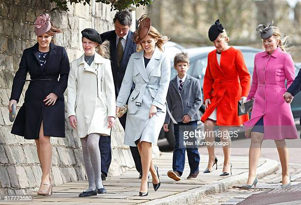 Princess Eugenie, Lady Louise Windsor, Sir Timothy Laurence, Princess Beatrice, James, Viscount Severn, Sophie, Countess of Wessex and Autumn...
