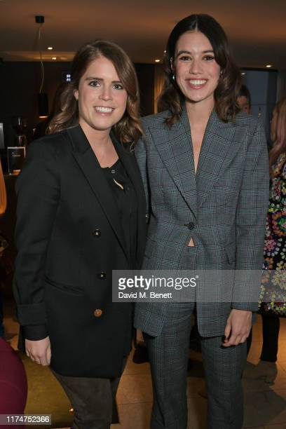 """Princess Eugenie of York and Gala Gordon attend a special screening of """"American Woman"""" at The Curzon Bloomsbury on October 9, 2019 in London,..."""
