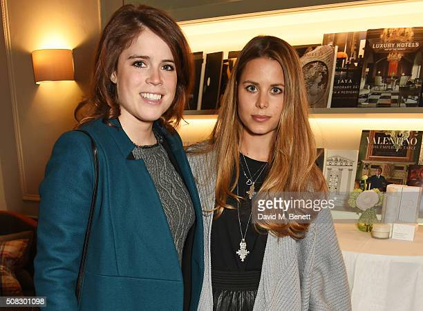 Princess Eugenie of York and Irene Forte attend the launch of Forte Organics hosted by Irene Forte at Brown's Hotel a Rocco Forte Hotel on February 4...