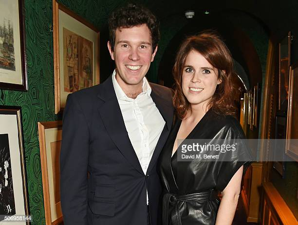 Princess Eugenie of York and Jack Brooksbank attend the launch of GP Nutrition Supplements a collection of five premium nutritional programmes...