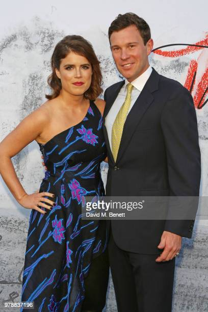 Princess Eugenie of York and Jack Brooksbank attend the Serpentine Summper Party 2018 at The Serpentine Gallery on June 19 2018 in London England