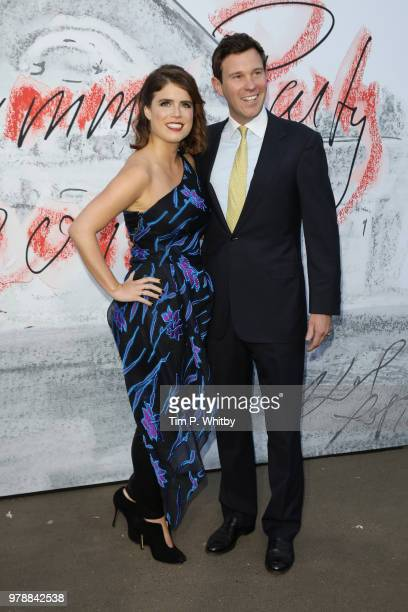 Princess Eugenie of York and Jack Brooksbank attend the Serpentine Summer Party 2018 at The Serpentine Gallery on June 19 2018 in London England