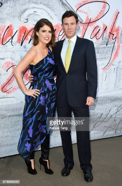 Princess Eugenie of York and Jack Brooksbank attend the Serpentine Gallery Summer Party at The Serpentine Gallery on June 19 2018 in London England
