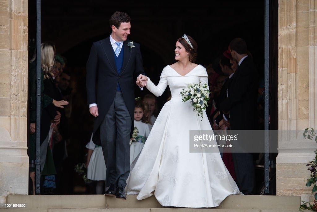 Princess Eugenie Of York Marries Mr. Jack Brooksbank : News Photo