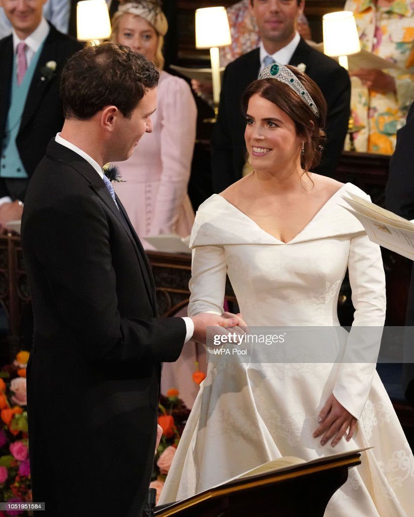 Princess Eugenie Of York Marries Mr. Jack Brooksbank : News Photo