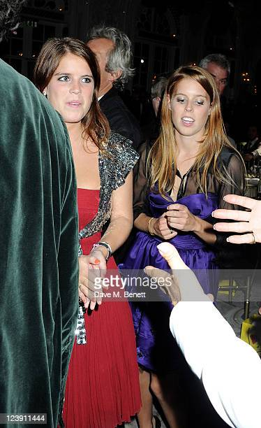 Princess Eugenie of York and Princess Beatrice of York attend Freddie For A Day celebrating Freddie Mercury's 65th birthday in aid of The Mercury...