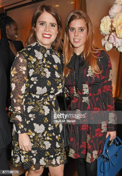 Princess Eugenie of York and Princess Beatrice of York attend Louis Vuittons Celebration of GingerNutz in Vogue's December Issue on November 21 2017...