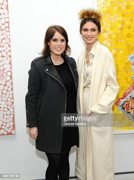 Princess Eugenie of York and Tali Lennox attend Tali Lennox Exhibition Opening Reception at Catherine Ahnell Gallery on March 18, 2015 in New York...