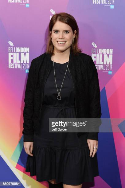 Princess Eugenie of York arrives at the European premiere of Jane during the 61st BFI London Film Festival at Picturehouse Central on October 13 2017...