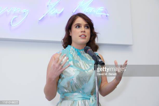 Princess Eugenie of York at the Animal Ball Art Show Private Viewing, presented by Elephant Family on May 22, 2019 in London, England.