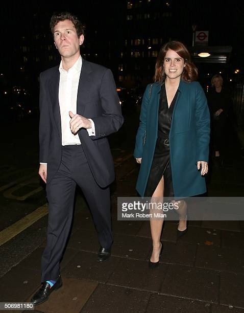 Princess Eugenie of York attending the GP Nutrition launch party at Annabel's club on January 26 2016 in London England