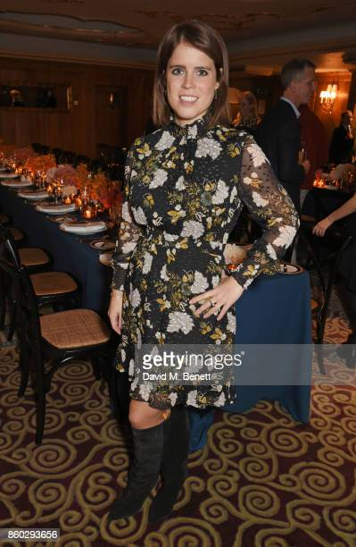 Princess Eugenie of York attends a private dinner following the Warrior Games Exhibition VIP Preview hosted by HRH Princess Eugenie Waris Ahluwalia...