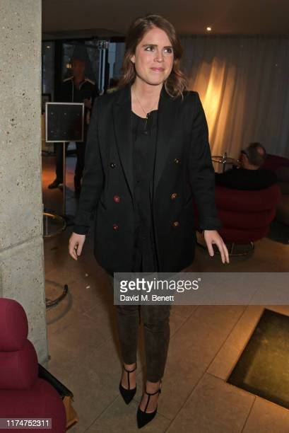"""Princess Eugenie of York attends a special screening of """"American Woman"""" at The Curzon Bloomsbury on October 9, 2019 in London, England."""