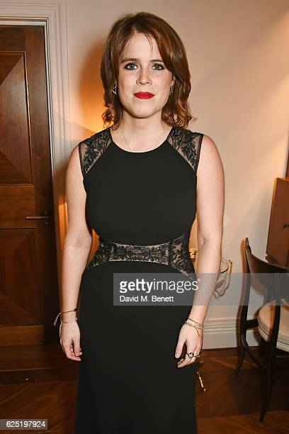 Princess Eugenie of York attends a VIP dinner to celebrate The Animal Ball 2016 presented by Elephant Family at The Arts Club on November 22 2016 in...