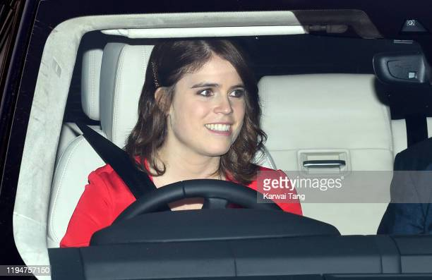 Princess Eugenie of York attends Christmas Lunch at Buckingham Palace on December 18, 2019 in London, England.