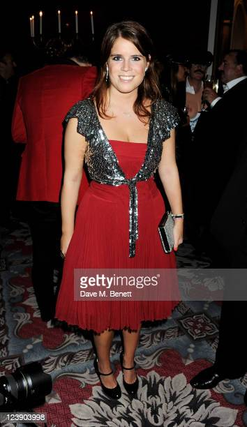 Princess Eugenie of York attends Freddie For A Day celebrating Freddie Mercury's 65th birthday in aid of The Mercury Pheonix Trust at The Savoy Hotel...