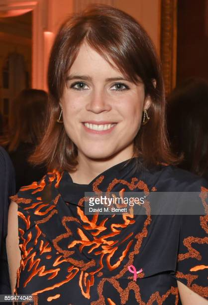 Princess Eugenie of York attends the 25th Anniversary of the Estee Lauder Companies UK's Breast Cancer Campaign at the US Ambassadors Residence...