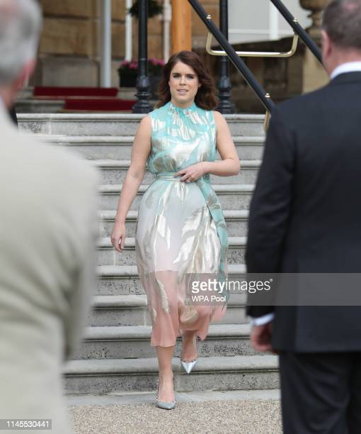 Princess Eugenie of York attends the Duke of Edinburgh Gold Award presentations at Buckingham Palace on May 22 2019 in London England