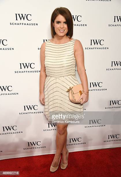 Princess Eugenie of York attends the IWC Schaffhausen Third Annual For the Love of Cinema Gala during the Tribeca Film Festival on April 16 2015 in...