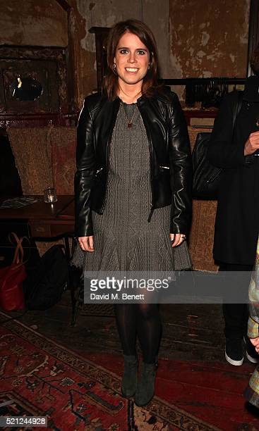 Princess Eugenie of York attends the press night performance of 'Deathwatch' at The Coronet on April 14 2016 in London England
