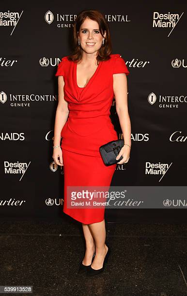 Princess Eugenie of York attends the UNAIDS Gala during Art Basel 2016 at Design Miami/ Basel on June 13 2016 in Basel Switzerland
