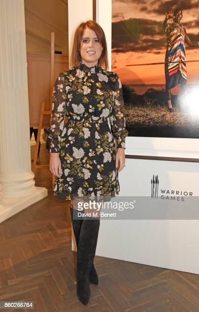 Princess Eugenie of York attends the Warrior Games Exhibition VIP preview party sponsored by Chantecaille and hosted by HRH Princess Eugenie Waris...