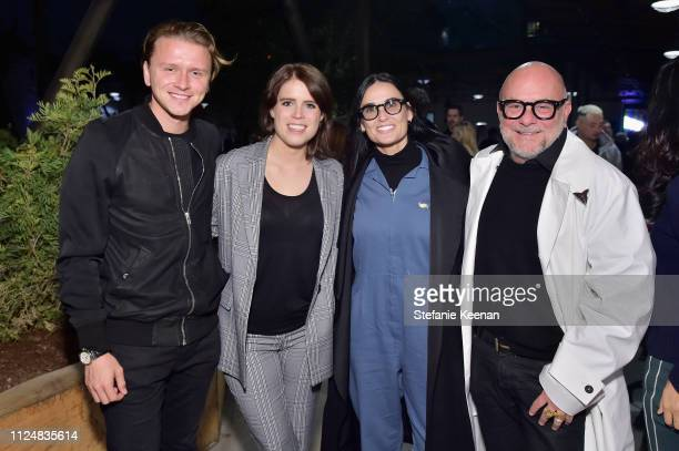 Princess Eugenie of York Demi Moore and Eric Buterbaugh attend Hauser Wirth Los Angeles Opening of Annie Leibovitz and Piero Manzoni and Musical...