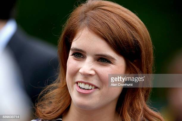Princess Eugenie of York during The Patron's Lunch celebrations for The Queen's 90th birthday at on June 12 2016 in London England