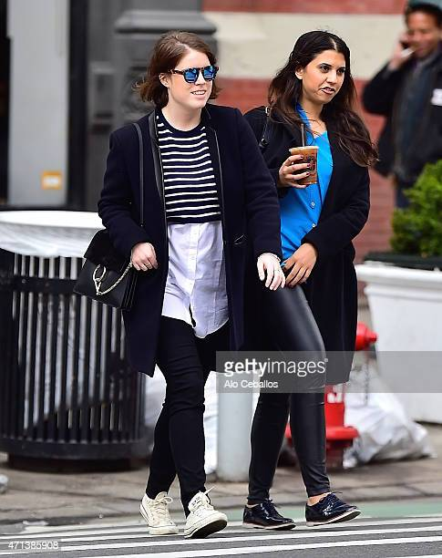 Princess Eugenie of York is seen in Soho on April 27 2015 in New York City