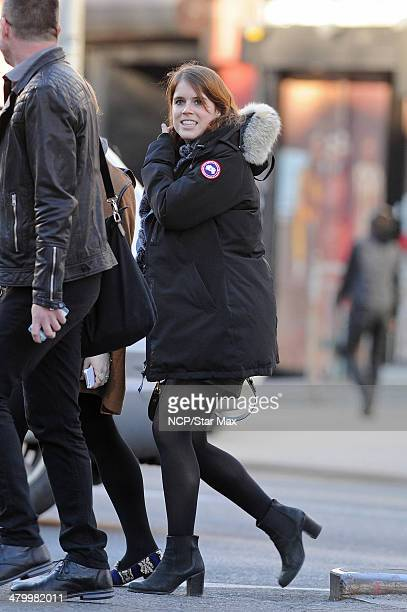 Princess Eugenie of York is seen on March 21 2014 in New York City